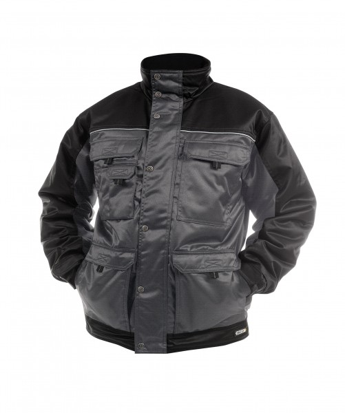 TIGNES_Two-tone-beaver-winter-jacket_Cement-grey-Black_FRONT_1