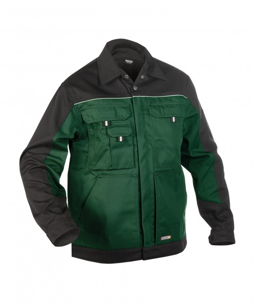 LUGANO_Two-tone-work-jacket_Bottle-green-Black_FRONT_1