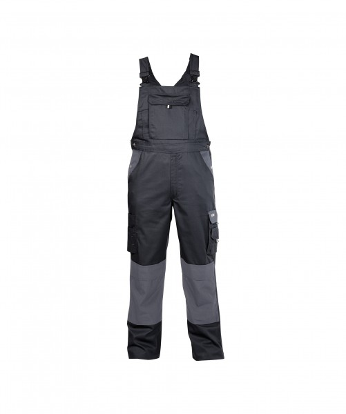 VERSAILLES_Two-tone-brace-overall-with-knee-pockets_Black-Cement-grey_FRONT_1