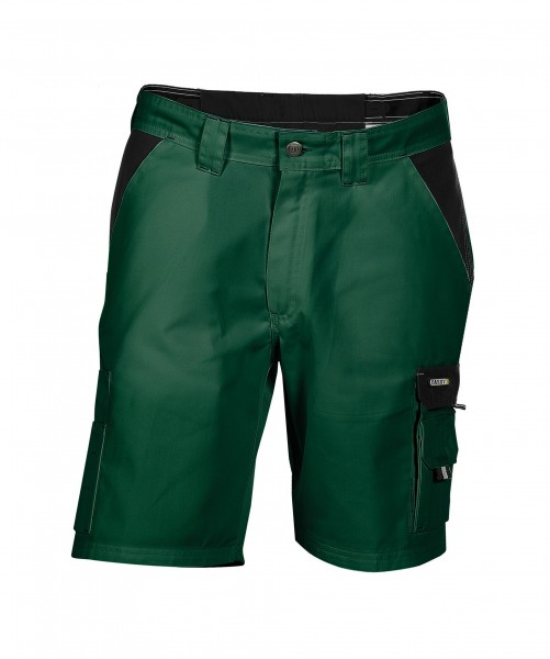 ROMA_Two-tone-work-shorts_Bottle-green-Black_FRONT_1