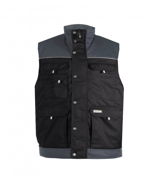 HULST_Two-tone-body-warmer_Black-Cement-grey_FRONT_1