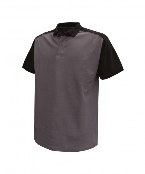 CESAR_Two-tone-polo-shirt_Cement-grey-Black_FRONT_1